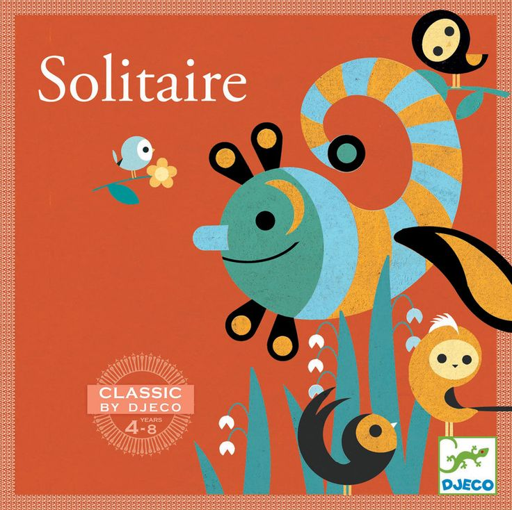 DJ5213 - Solitaire Game by Djeco. Distributed by Kaleidoscope.