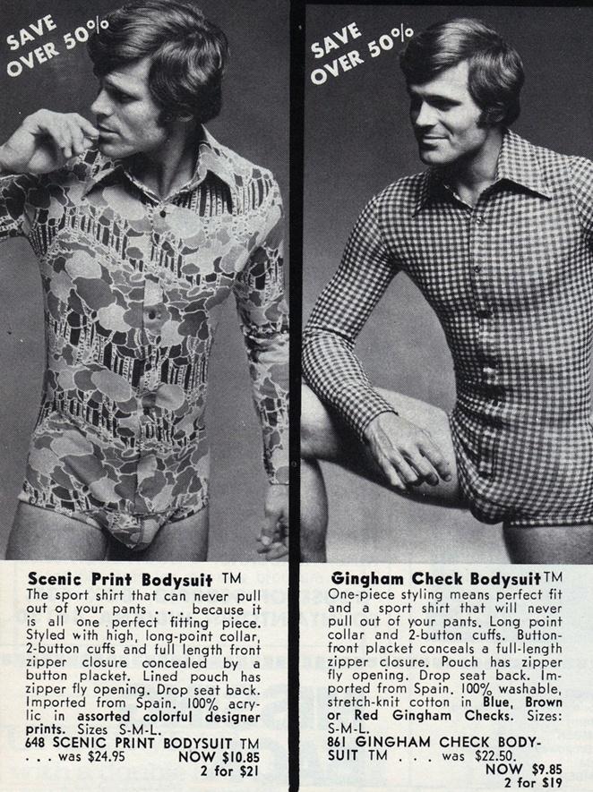Boys, you got off lightly... 70s Bodysuits.