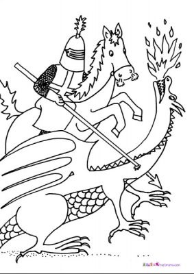 St George's Day pictures to print and colour