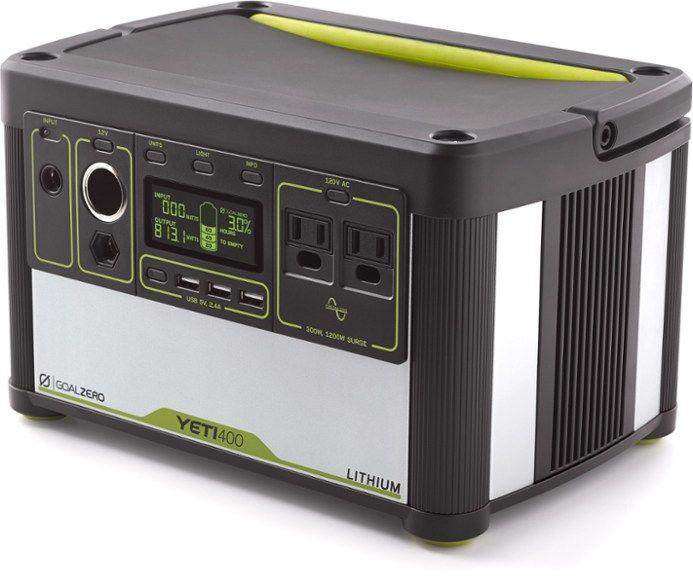 Goal Zero Yeti 400 Lithium Portable Power Station Rei Co Op Solar Power Diy Portable Power Goal Zero