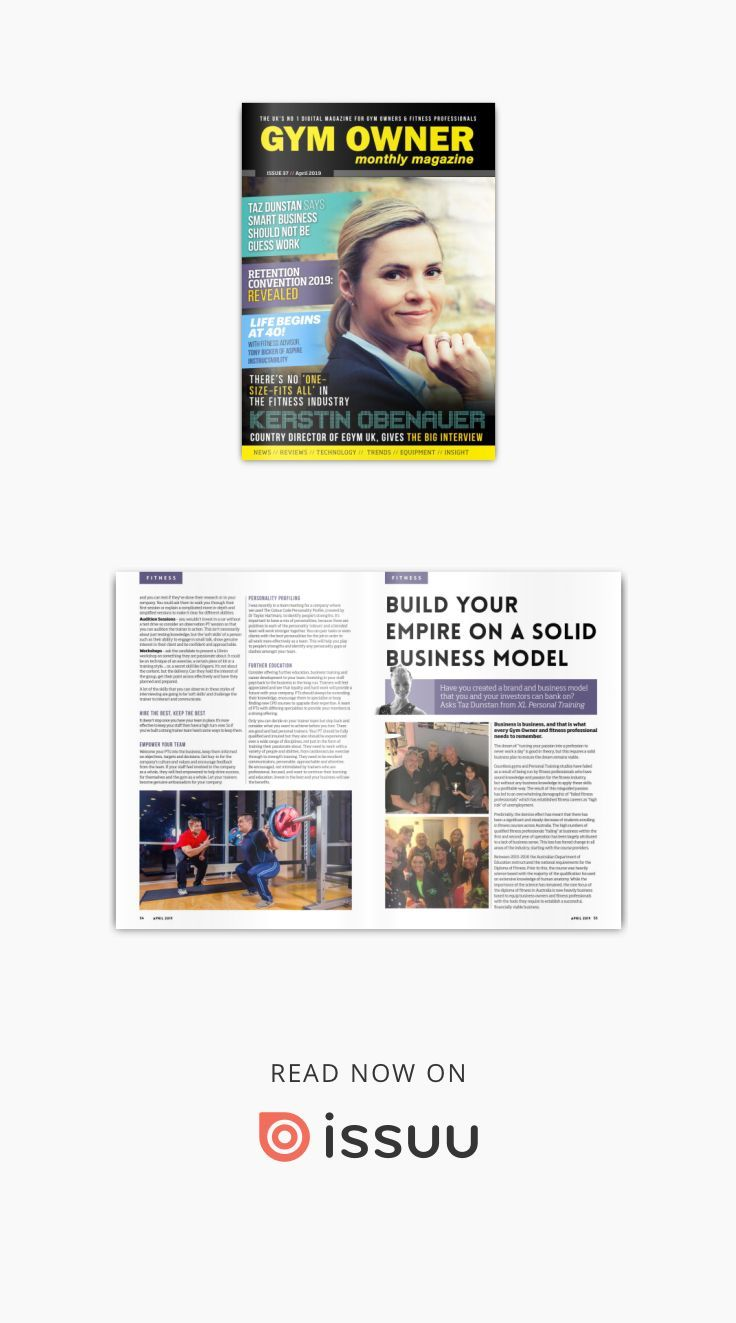Gym Owner Monthly April Issue 2019 Gym owner, Personal