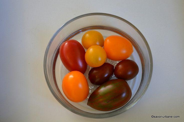Salata de rosii cherry cu usturoi, busuioc si otet balsamic | Savori Urbane