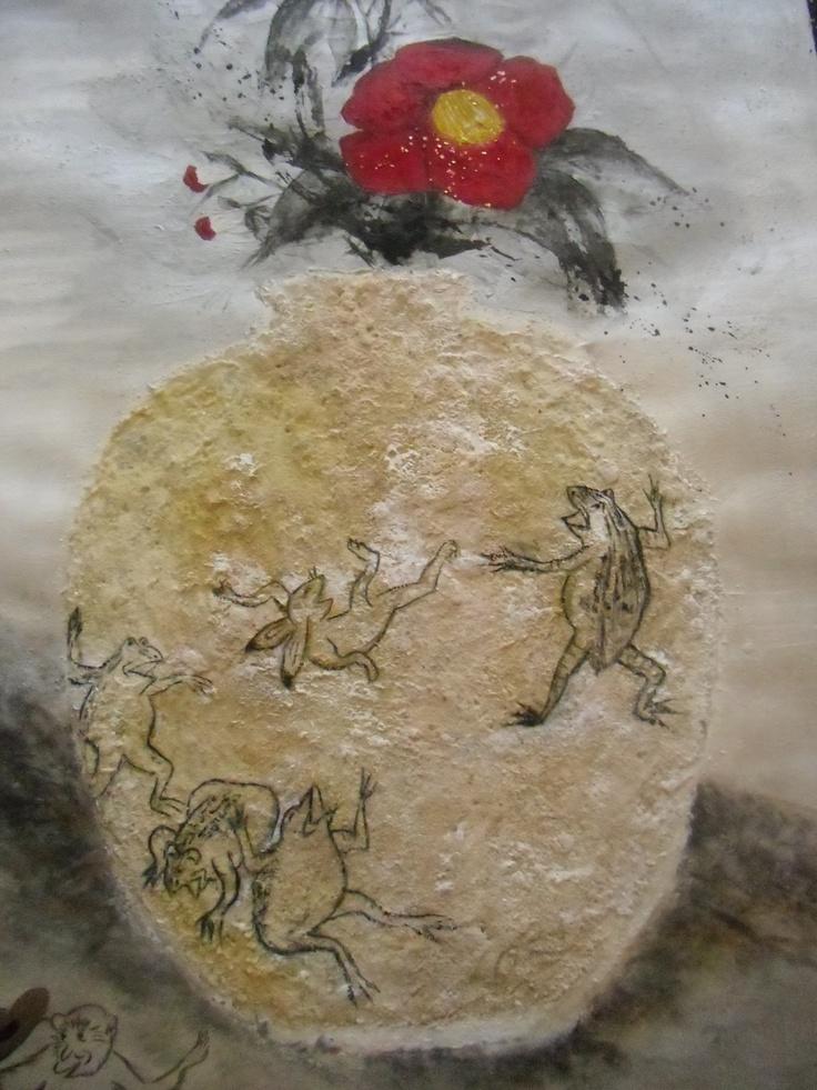 Japanese old animal comic painting  (Sumou) chojyugiga