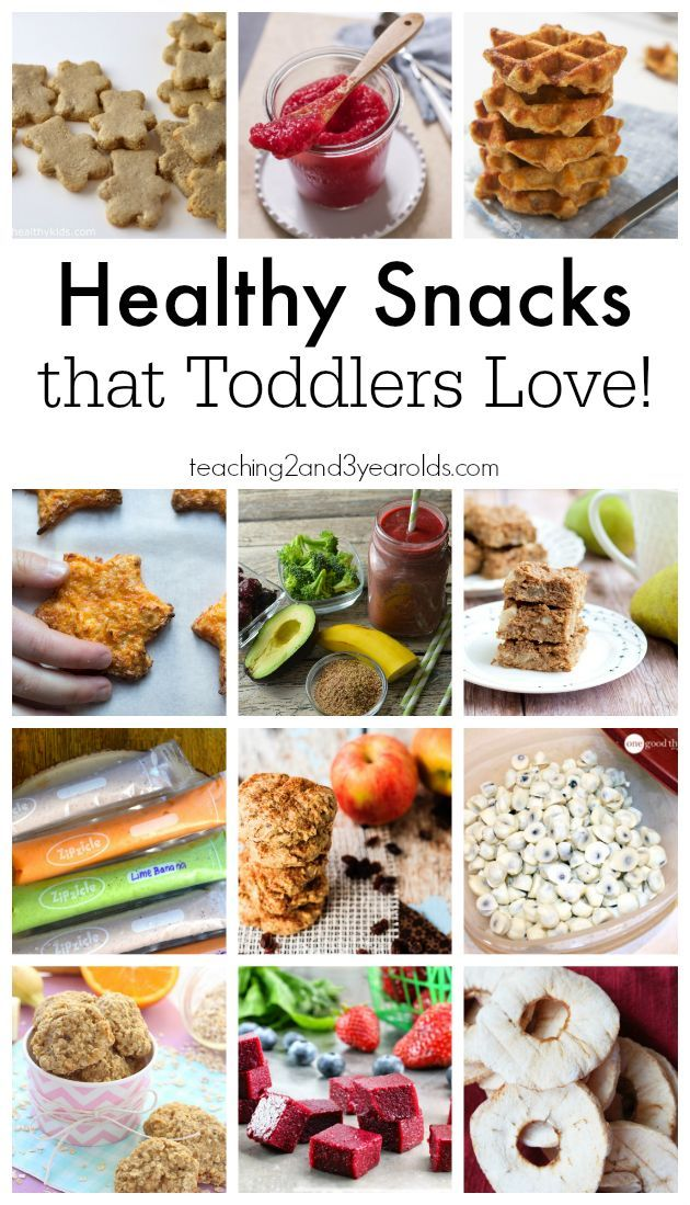Healthy Snacks for Toddlers - Teaching 2 and 3 year olds