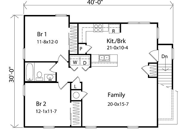 House plans garage dimensions