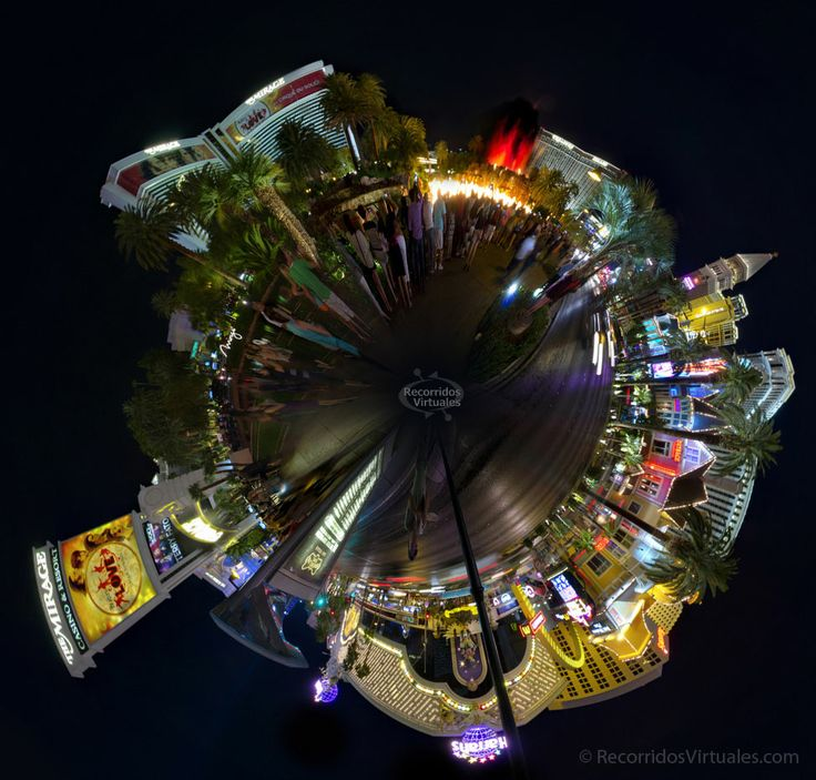 Esta imagen se puede navegar interactivamente en http://www.odisea360.com/lasvegas_2014/las_vegas.html