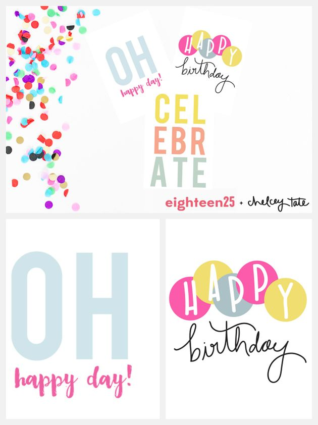 Printable Birthday Note Cards