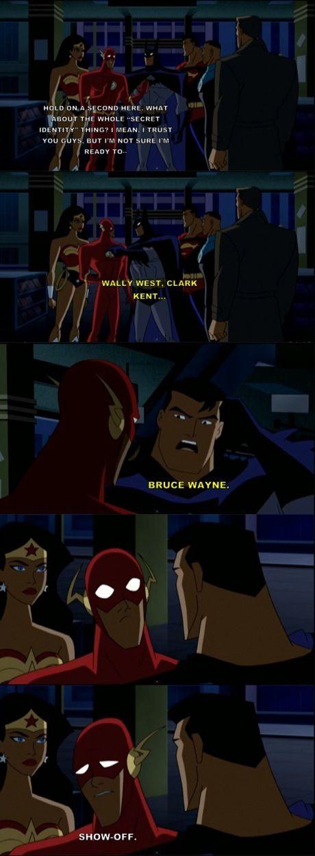 No secret identities when Batman is around.