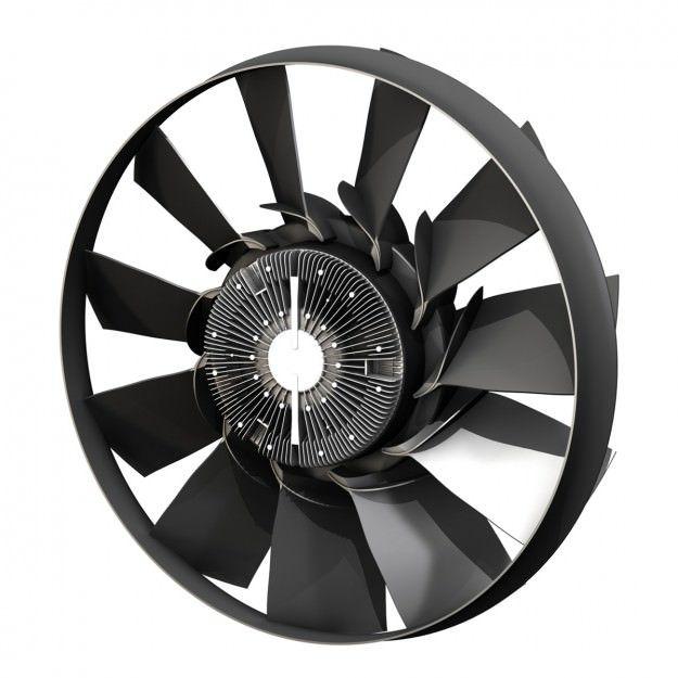 Engine Cooling Fan 2 3d Model Cooling Fan 3d Model Fan