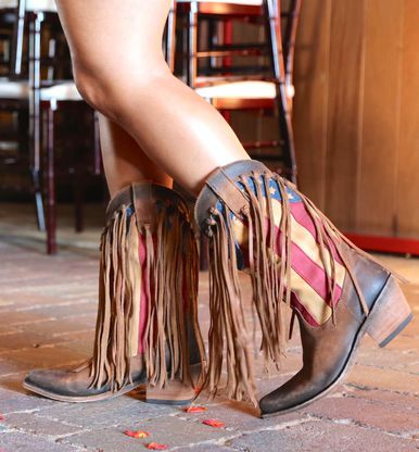 Shop the Liberty Black Fringe American Flag Cowgirl Boot Faggio LB712937 at RiverTrail Mercantile. Enjoy fast and free shipping on all Liberty Black Boots!