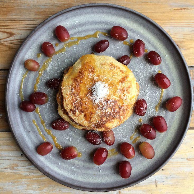Ei banaan pannenkoeken met kokos | Francesca Kookt