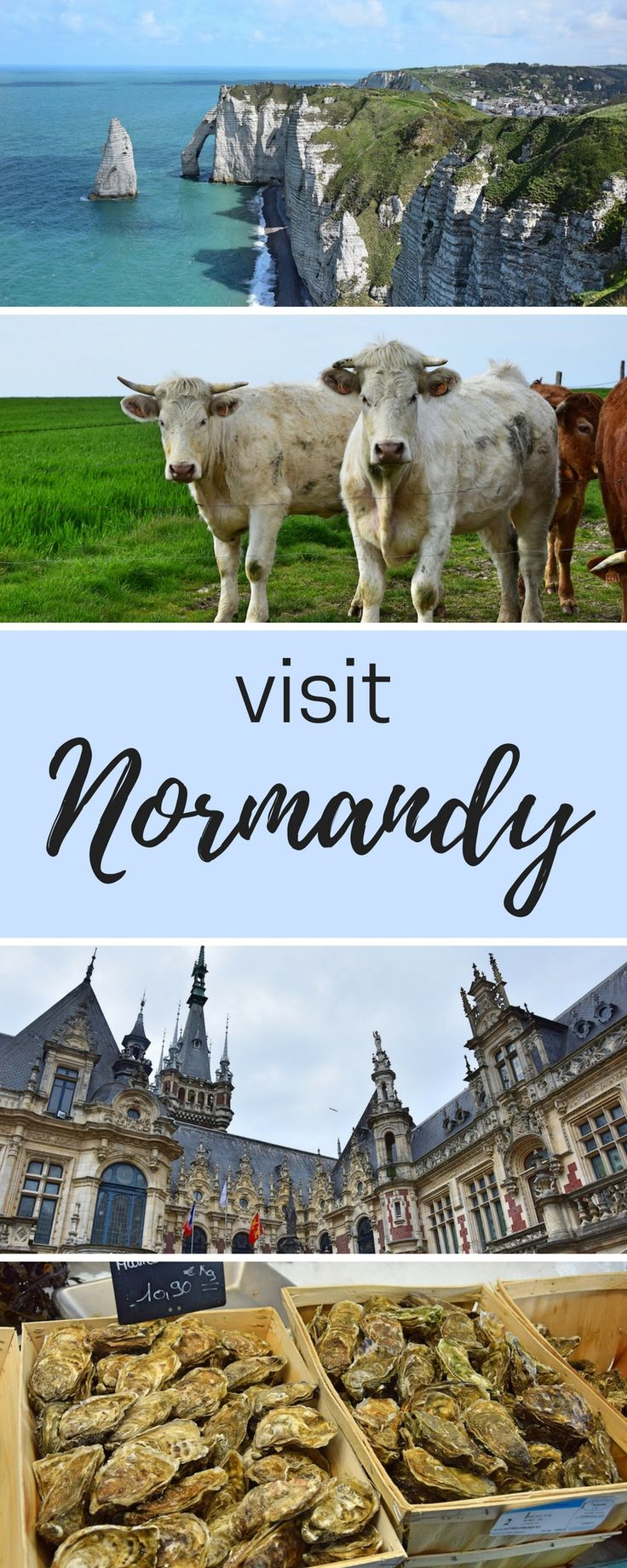 What to do in beautiful Normandy, France. Nature, food, architecture!