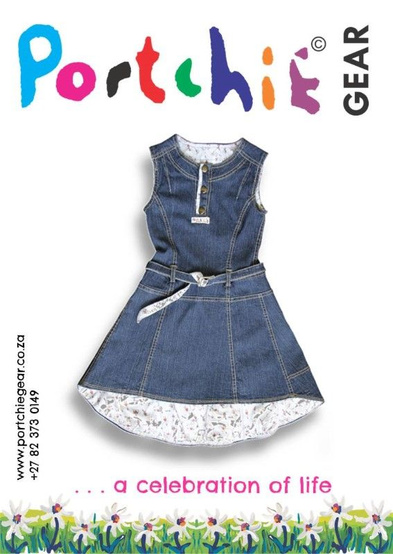 Girls #denimdress by #portchiegear - www.portchiegear.co.za