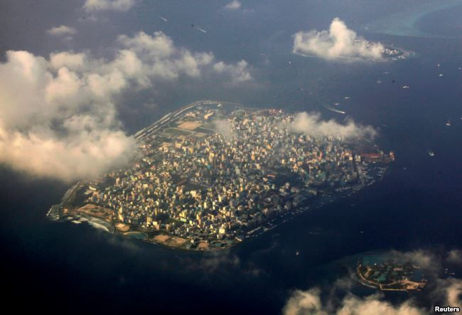 FILE - An aerial view of Maldives capital Male, Dec. 9, 2009. #VisitMaldives