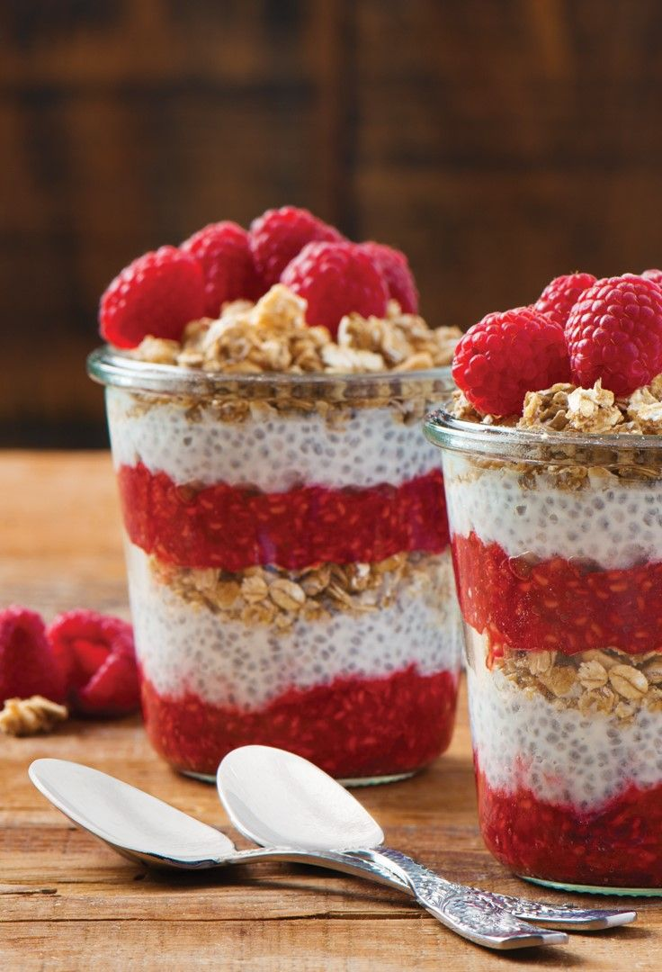 Special K® Granola Morning Jars _____________________ Special K® Low Fat Granola cereal + raspberries + honey + yogurt + chia seeds