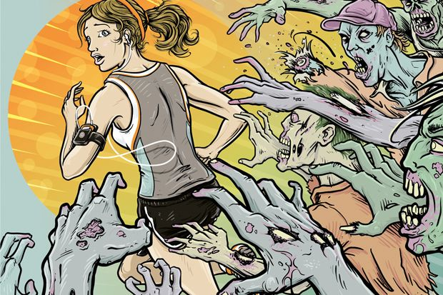 Zombies, Run! app. Turn your run into a survival against the Zombie horde. --- It's almost enough to make me take up running.  :)
