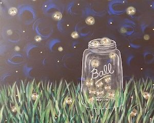 Social Artworking Canvas Painting Design - Catchin' Fireflies