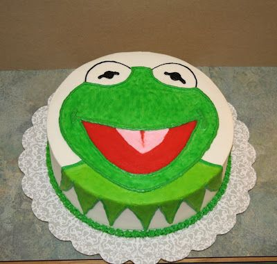 Party Cakes: Kermit the Frog Cake