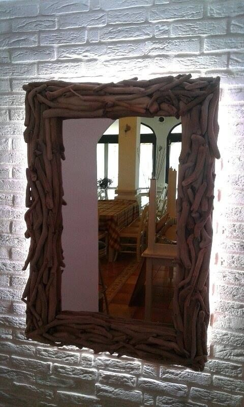 τηλ 6975773699..καθρέπτης από θαλασσοξυλα φτιάχτηκε για το εστιατόριο ΚΥΜΑ (Ποσειδώνος 50 Ν.Πόροι Πιερίας) που πρόσθεσε και τον κρυφό φωτισμό..http://estiatoriokyma.blogspot.gr/