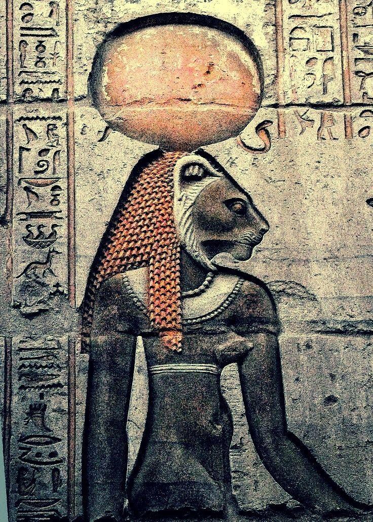 """""""Goddess Sekhmet, from the wall of Kom Ombo, Egypt """" – Glubbs"""