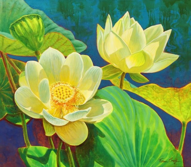 """Lotus I"" 92cm x 107cm. For more information please contact REDSEA Gallery on (07) 3162 2230 © Fiona Craig"