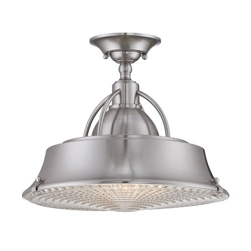 Quoizel Lighting Semi-Flushmount Light in Brushed Nickel Finish | CDY1714BN | Destination Lighting