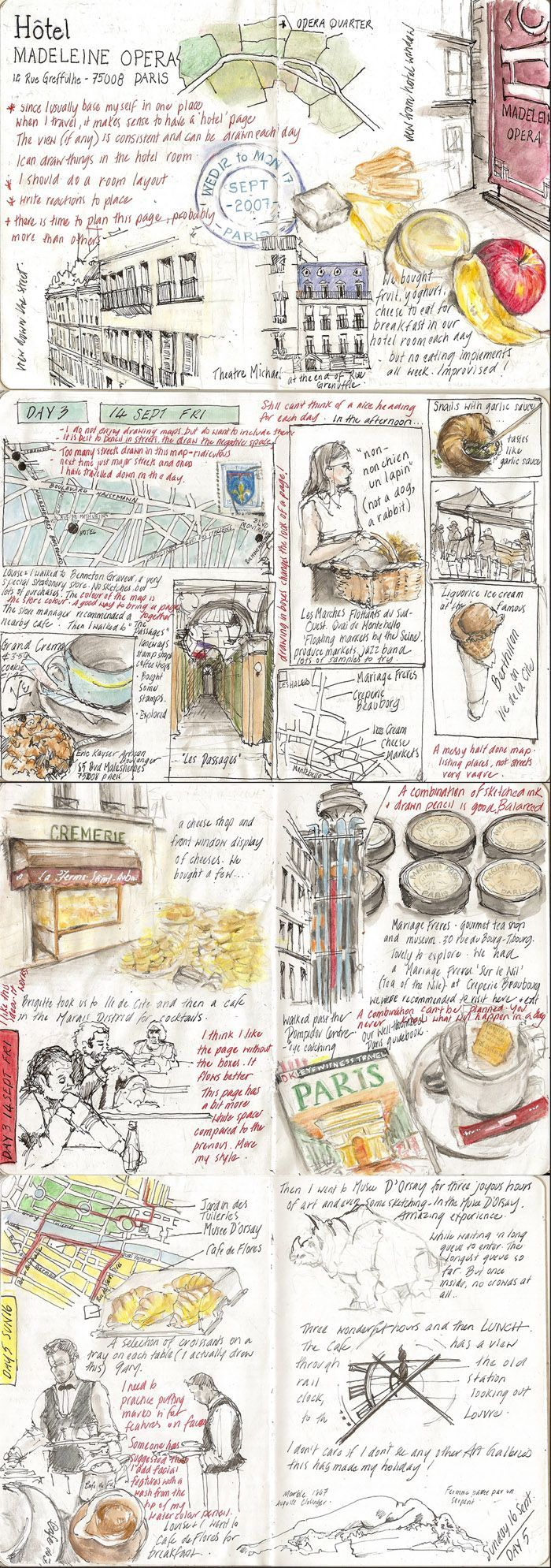 Paris :: Sketchbook Project Travelogue ( by Alissa Duke )