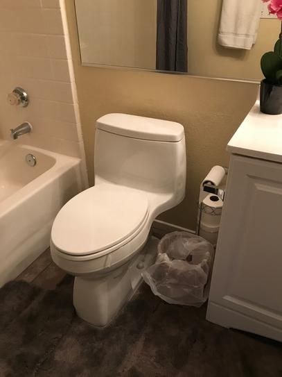 667010a3049 KOHLER Santa Rosa Comfort Height 1-Piece 1.28 GPF Single Flush Compact  Elongated Toilet with AquaPiston Flush in White