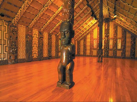 Maori Meeting House – Waitangi – Bay of Islands New Zealand