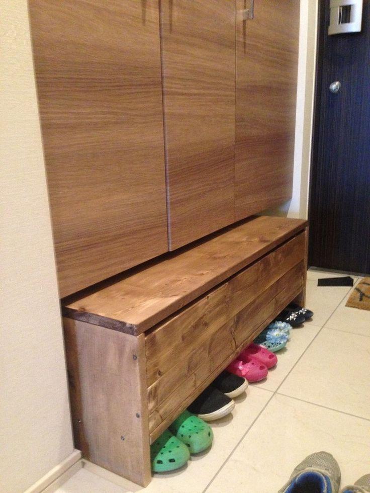 玄関収納スペースに収納&ベンチにもなるボックスをDIY|LIMIA (リミア) makkyfone