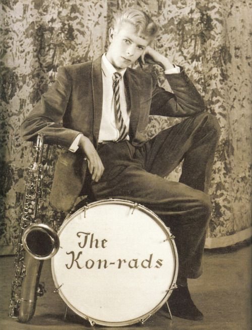 David Bowie in 1963. Well ... We all know what happened with the Kon-rads. Mr. Jones had to just wait a while. . . .