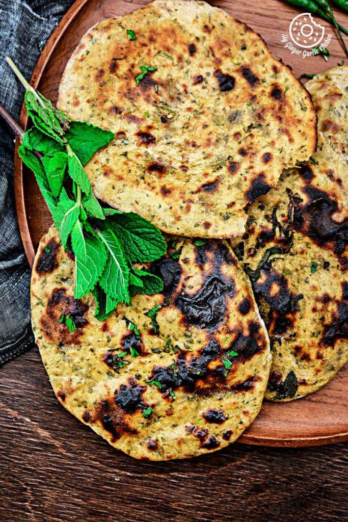 Mint Coriander Tandoori Roti | mygingergarlickitchen.com/ @anupama_dreams