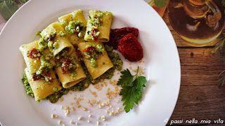 4 passi nella mia vita: Primi piatti: Paccheri con pesto di zucchine, mand...