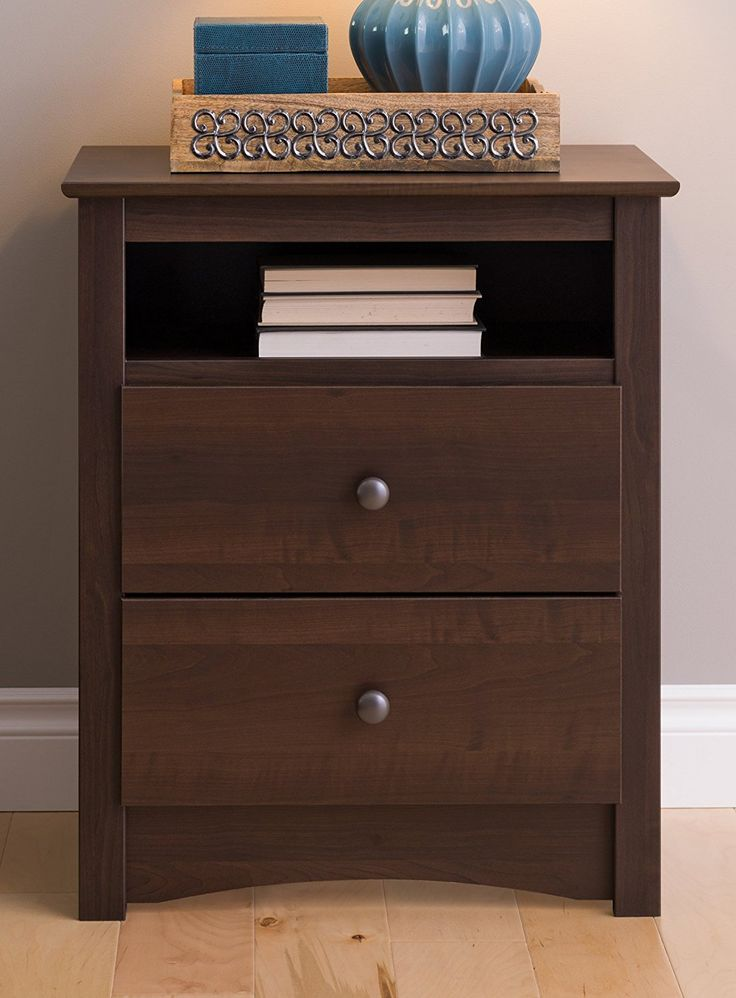 Amazon com  Prepac EDC 2428 Fremont 2 Drawer Nightstand with Open Shelf. 17 best ideas about Tall Kitchen Cabinets on Pinterest   Cabinets