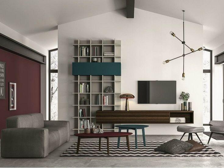originales estantes modulares de salón