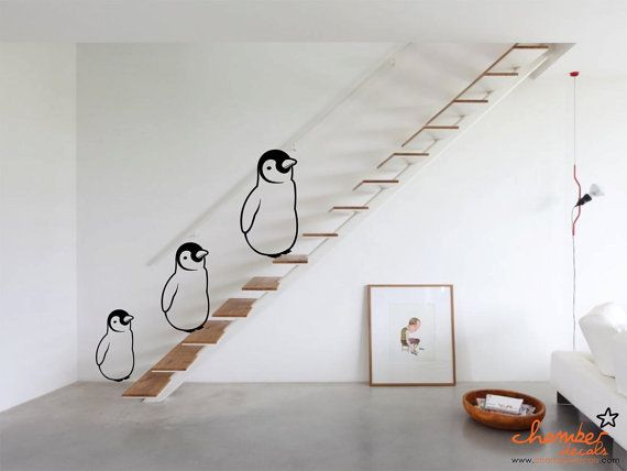 PENGUIN WALL STICKER. *too excited*