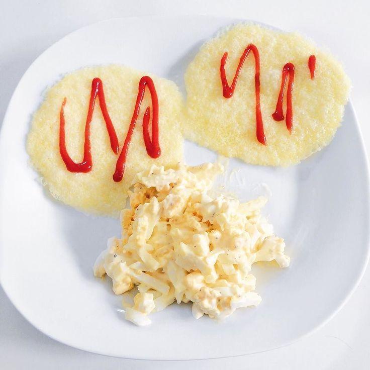 Eggefaste dag 2 måltid 2  eggerøre av 2 egg og majones pluss to ostekjeks av ferdigskivet gräddost med litt sukkerfri ketchup på. Begynte å bli ganske sulten så dette var skikkelig godt. #lchf #lc #lowcarb #lowcarbhighfat #lavkarbo #keto #ketogenic #ketose #ketosis #eggfast #eggefaste #eggfaste #fast #faste #fasting #fatadapted #cheesecrisp #egg #weightloss #fatloss #livsstilsendring by stine_livsstilsendring