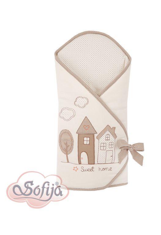 Rożek dla dzieci z kolekcji Muffi - kolor ecru   www.sofija.com.pl #dziecko #pościel #bawełna #pokójdziecka #kids #kinder #baby #bettwäsche #ребенок #номерребенка