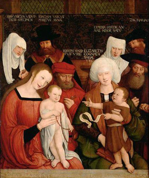 Bernhard Strigel, Sainte Famille, Allemagne, Kunsthistorisches Museum, Vienne, 1520