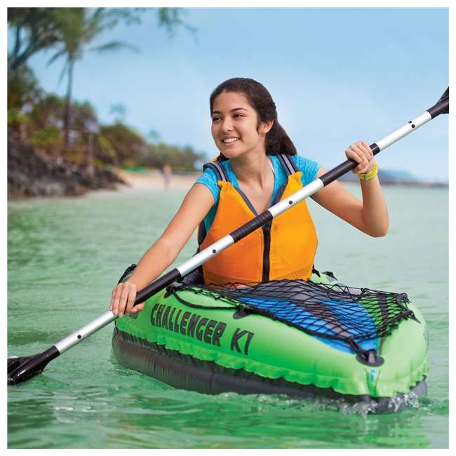 Intex Challenger K1 1-Person Inflatable Kayak With Oars And Pump- Pin It to Win It!