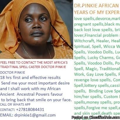 LOST LOVE SPELL SPECIALIZED S CASTER PHYSIC READER AND BLACK MAGIC EXPERT +27818084431 whats app me or call DR PINKIEDo these questions apply to you? • Bringing back your lost lover in three days/ binding love • Are you facing relationship problems? • Is he/she cheating on you? • Spells to protect your home and business • Win court cases(do you have a case that is so difficult for you) • Win tenders and contracts from the government without any difficulties • Bringing back your sto...