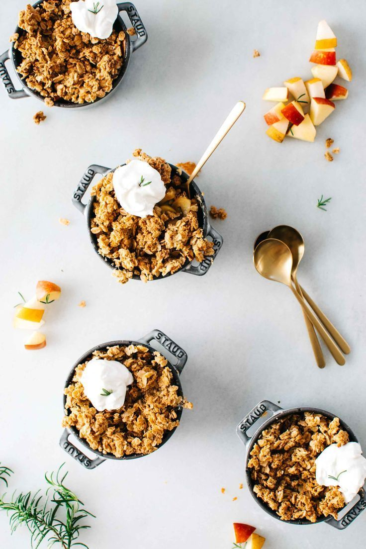 ASIAN PEAR & APPLE CRISP WITH MAPLE ROSEMARY CRUMBLE + A COOKBOOK PREVIEW! | Kale and Caramel