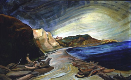 'The Shoreline' - oil on canvas, 1936 by Emily Carr