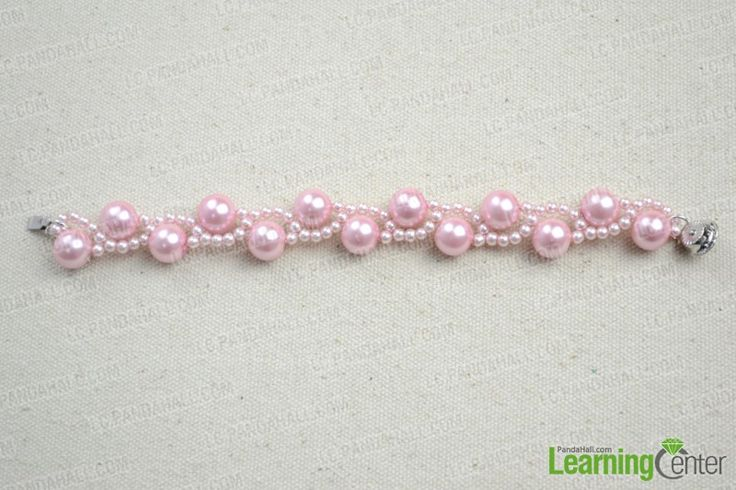 Free Beaded Bracelet Patterns Instructions - How to Make Pearl Bracelet at Home - Pandahall.com
