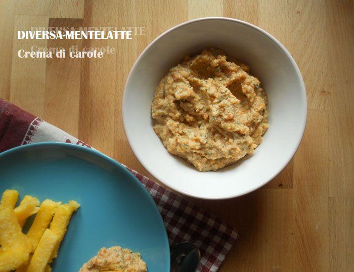 Bastoncini di #polenta con crema di #carote #zerolattosio...