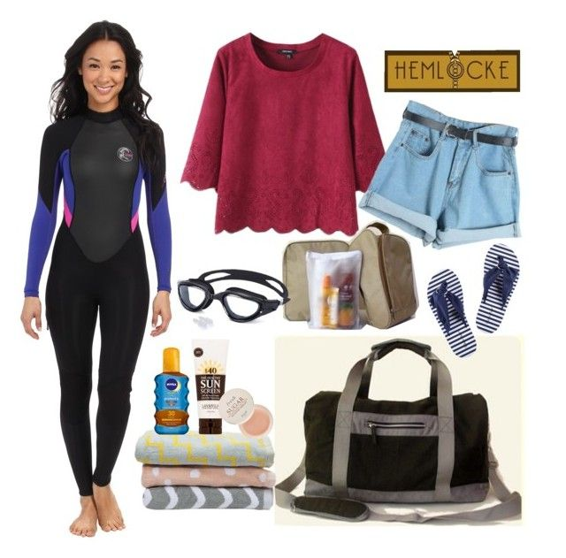 """Hemlocke for Swimming"" by hemlocke on Polyvore featuring O'Neill, Chicnova Fashion, Dusen Dusen, Lavanila, Nivea, Fresh and MARBELLA"