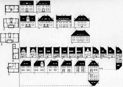Paul Schmitthenner house types and facade...