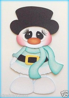 PREMADE  BOBBLE HEAD CHRISTMAS SNOWMAN BOY PAPER PIECING BY MY TEAR BEARS KIRA  in Crafts, Scrapbooking & Paper Crafts, Paper Piecing | eBay