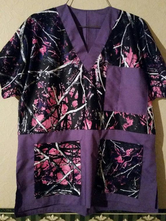 Muddy Girl camo Scrubs Top only Pants can be ordered by OKCAMO