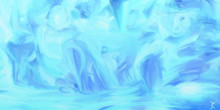 """Water"" part of a series of digital artworks I did on the theme of the elements for canvas prints I got. This one will be going to the Ainsile Pilate Center for their Water Room"